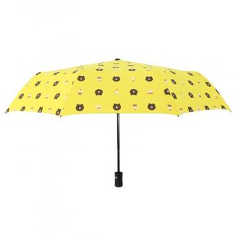 Brown Bear Portable Folding Umbrella